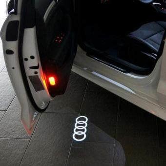 2pcs Car Decorative Lamp LED Courtesy Door Projector Light GhostShadow Light FOR AUDI A1 A3 A4 A6 A5 A7 A8 80 TT Q3 Q5 Q7 RS
