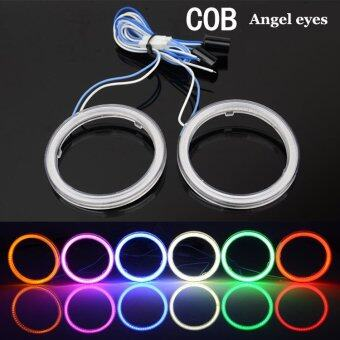 Harga 2x COB 90mm 66 SMD Led Auto Halo Rings Angel Eye COB ChipsHeadlight Car Angel Eyes Motorcycle With Lampshades (red) - Intl