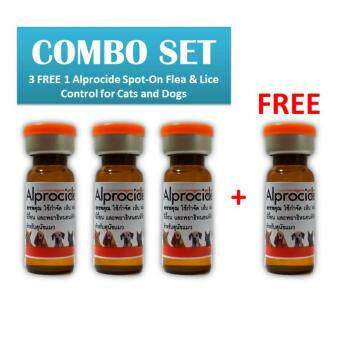 3 FREE 1 Alprocide Spot-On Flea & Lice Control for Cats and Dogs