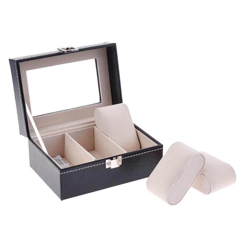 3 Grid Slots PU Leather Box Watch Jewelry Display Storage Organizer Case Malaysia