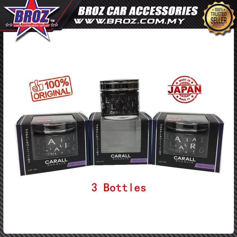 Broz 3 X Bottle CARALL Regalia 1385 Platinum Squash Car Air Freshener (Genuine, Made In Japan)
