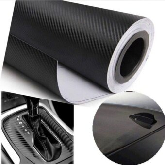 300cmX60cm 3D carbon fiber vinyl film/ carbon fibre sticker black color option car sticker 3D carbon wrap
