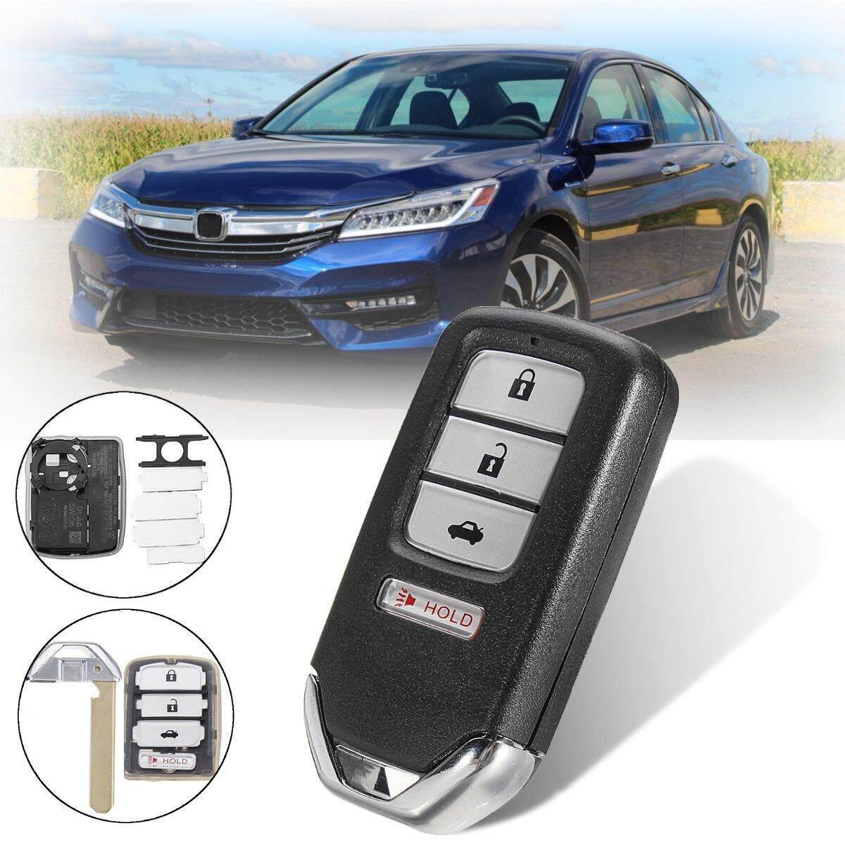 3 + 1 Tombol Remote Kunci Fob Case Shell Dengan Pisau Untuk Honda Accord Civic Crv