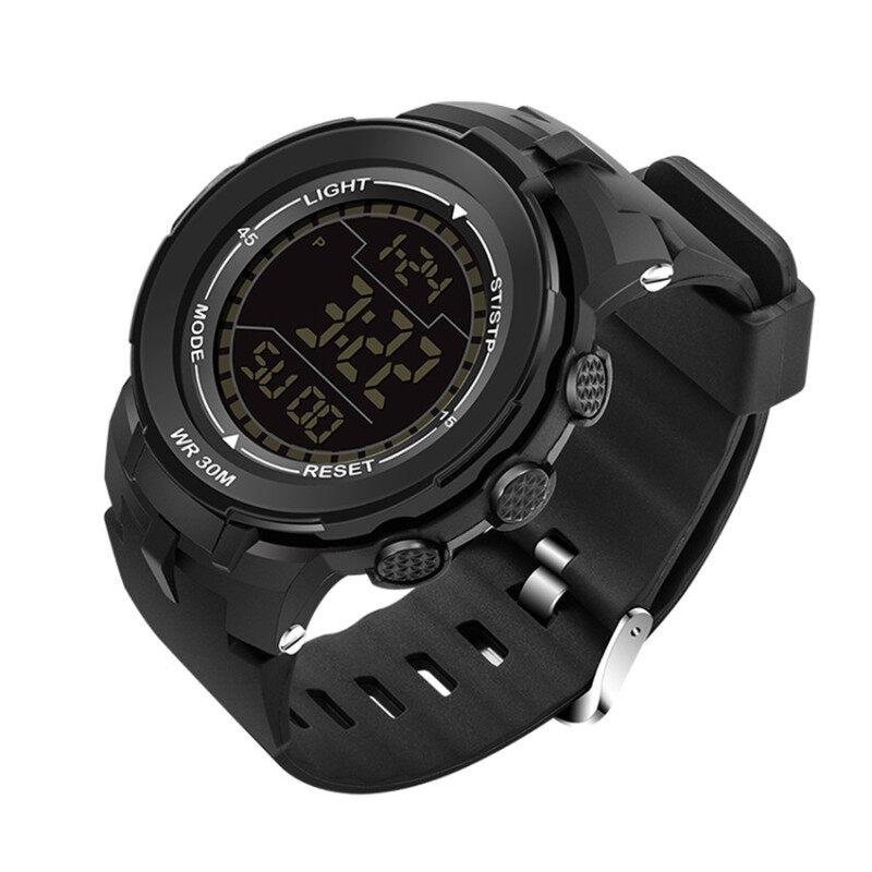 340 Big Dial Multifunctional Fashion Outdoor Sports Waterproof Watch (black) Malaysia
