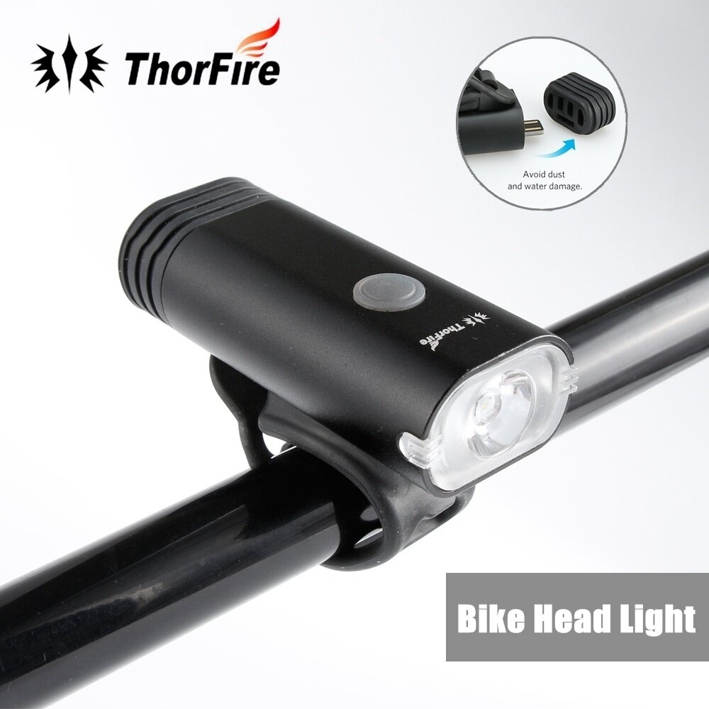 Bike Light ThorFire Super Bright Bike Headlight USB Rechargeable Bicycle Head...