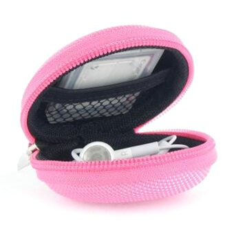360DSC Protection Carrying Pocket Case Cover Storage Bag forEarphone MP3 - Pink