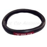 38cm (M size) TRO Carbon Fiber Leather Steering Wheel Cover Color - Black