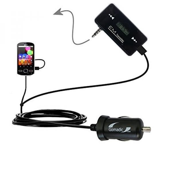 3rd Gen FM Transmitter with Micro Rapid Car Charger compatible with the Acer beTouch E130 E140 - intl