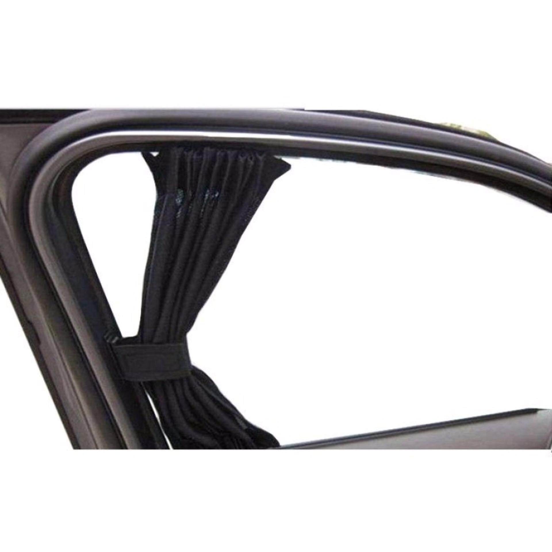 4 Windows 50cm S Size Car Side Window Curtain Blind Sun Shade Can See Through A Bit for Myvi Vios Persona Gen 2 Civic - Black