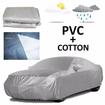 Harga 482 x 178 x 119 cm L Size PVC + Cotton Double Layers Car Full CoverWater Resistant Anti-UV Dust Resistant Vehicle Protection CoveringGrey Persona Preve Lancer Perdana Inspira Almera Sylphy City CivicVios Forte Fiesta Saga Old Mazda 3