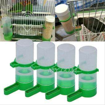 4Pcs Bird Pet Drinker Food Feeder Waterer Water Bottle for AviaryCage