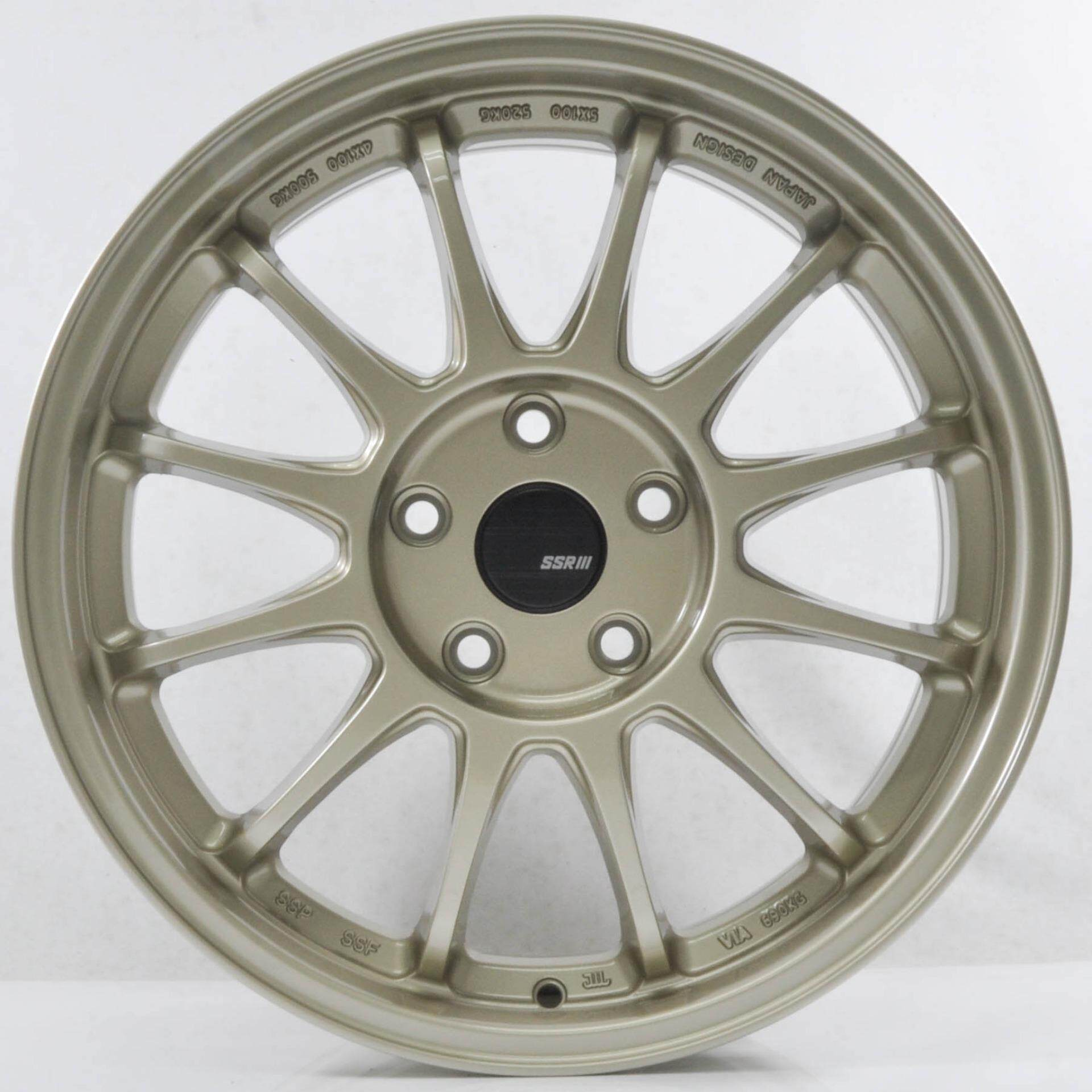 4pcs SSR TYPE F 17 inch 5X114.3 CHAMPAGNE GOLD