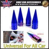 Broz 4x Aluminum Bullet Car Air Port Cover Tire Rim Valve Wheel Stem Caps Blue