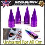 Broz 4x Aluminum Bullet Car Air Port Cover Tire Rim Valve Wheel Stem Caps Purple