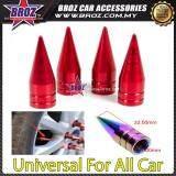 Broz 4x Aluminum Bullet Car Air Port Cover Tire Rim Valve Wheel Stem Caps Red