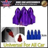 Broz 4x Aluminum Plane Car Air Port Cover Tire Rim Valve Wheel Stem Caps Purple