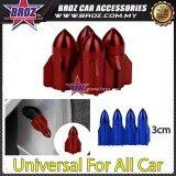 Broz 4x Aluminum Plane Car Air Port Cover Tire Rim Valve Wheel Stem Caps Red