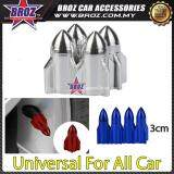 Broz 4x Aluminum Plane Car Air Port Cover Tire Rim Valve Wheel Stem Caps Silver
