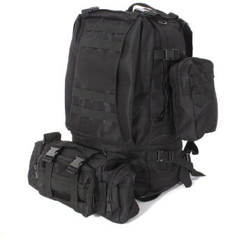 50L Molle 3D Assault Tactical Outdoor Military Rucksacks Backpack Camping Bag Black