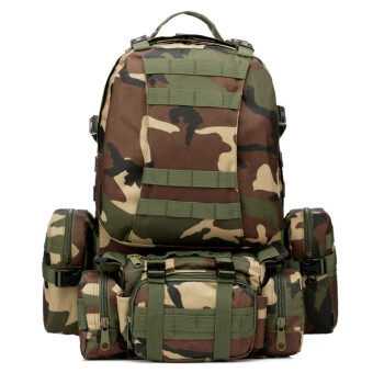 50L Molle 3D Assault Tactical Outdoor Military Rucksacks BackpackCamping Bag Jungle Camouflage