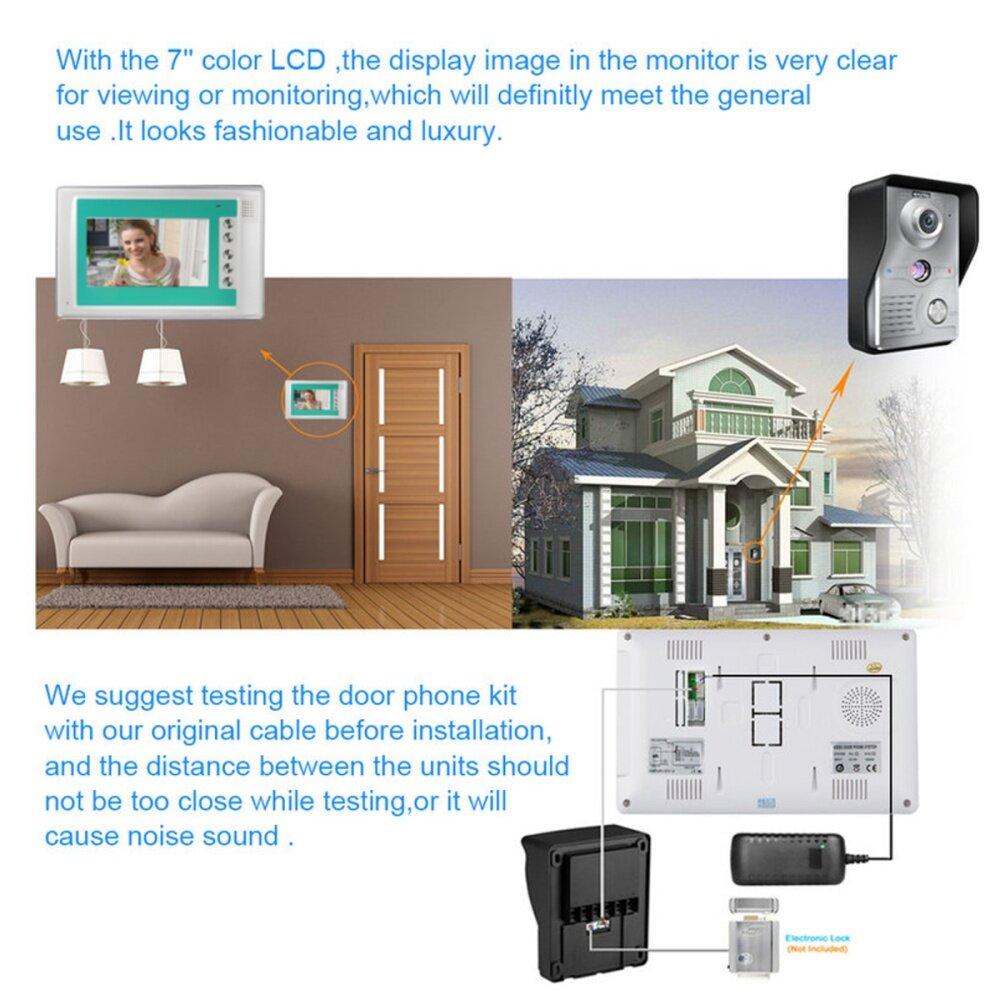 Buy Generic 7 Wire Video Door Phone Doorbell Intercom Camera Tft Lcd Monitor Wiring Image