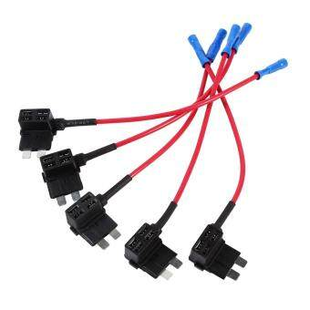 5Pcs Add Circuit Medium Tap Piggy Back Standard Blade Fuse BoxeHolder ATO ATC