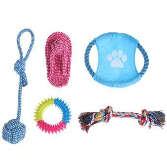 Harga 5pcs Puppy Dog Pets Chew Toys and Pet Rope Toy for Small to MediumDogs