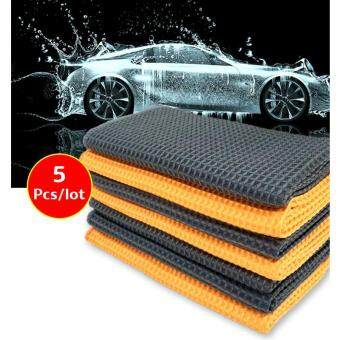 5pcs Waffle Car wash towel honeycomb cloth microfiber Wipes