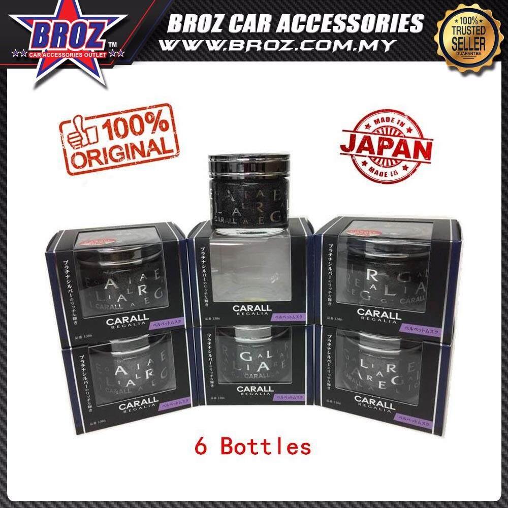 Broz 6 X Bottle CARALL Regalia 1385 Platinum Squash Car Air Freshener (Genuine, Made In Japan) (Bulk Package)
