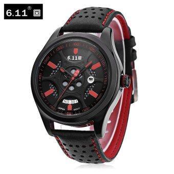 6.11 NO - 001 Men Photovoltaic Solar Energy Quartz Watch Mineral Reinforced Glass Calendar Wristwatch