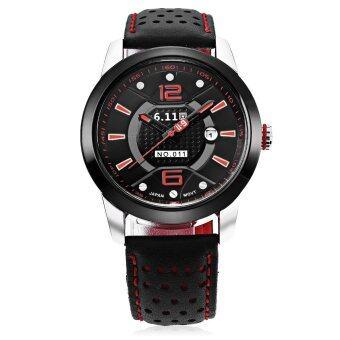 6.11 NO - 011 Men Solar Photovoltaic Energy Quartz Watch Mineral Reinforced Glass Calendar Wristwatch