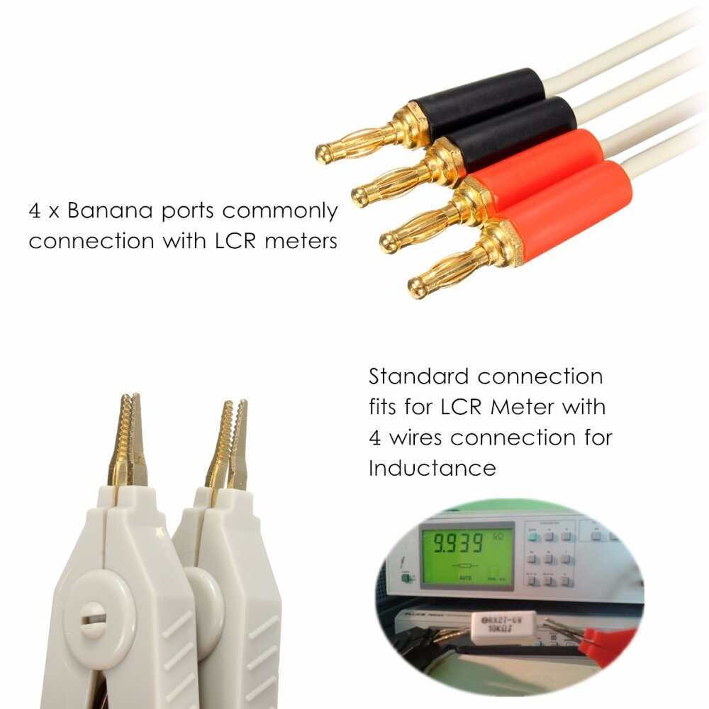 Buy Generic Lcr Meter Low Resistance Leads Banana Plug Clip Cable Wiring A Image