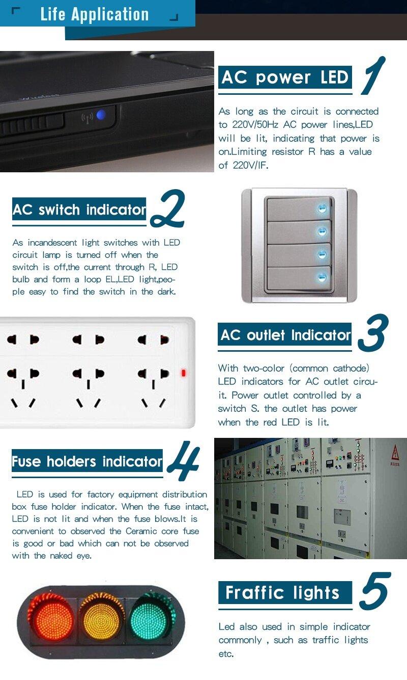 Buy Generic New Electric Unit 180pcs Eight Colors 10 Value 3 Mm Power Led Circuit Image