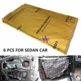 6PCS MONOCROSS Car Auto Vehicle High Quality Exhaust Muffler Heat Sound Proofing Deadening Insulation Mat Pad Waterproof 80x45cm (GOLD) (Bulk Package)