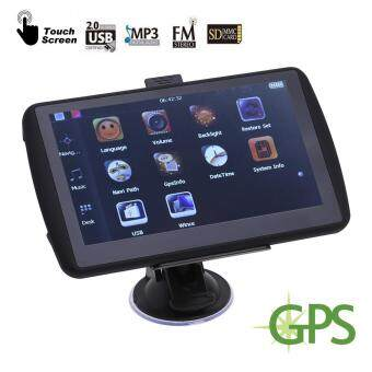 Harga 7 inch GPS Navigation Device 4GB Navigator for Car Truck FreeMap(Black)-North America