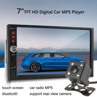 Harga 7012B Bluetooth 7 Inch TFT Screen Car Audio Stereo MP5 Player 12VAuto 2-Din Support AUX FM USB SD MMC