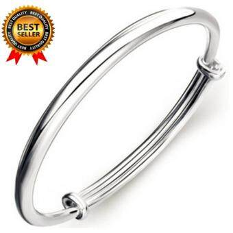 Harga 925 Sterling Silver Bangle Bracelet, Fashion Simple Style BanglesJewelry for Women