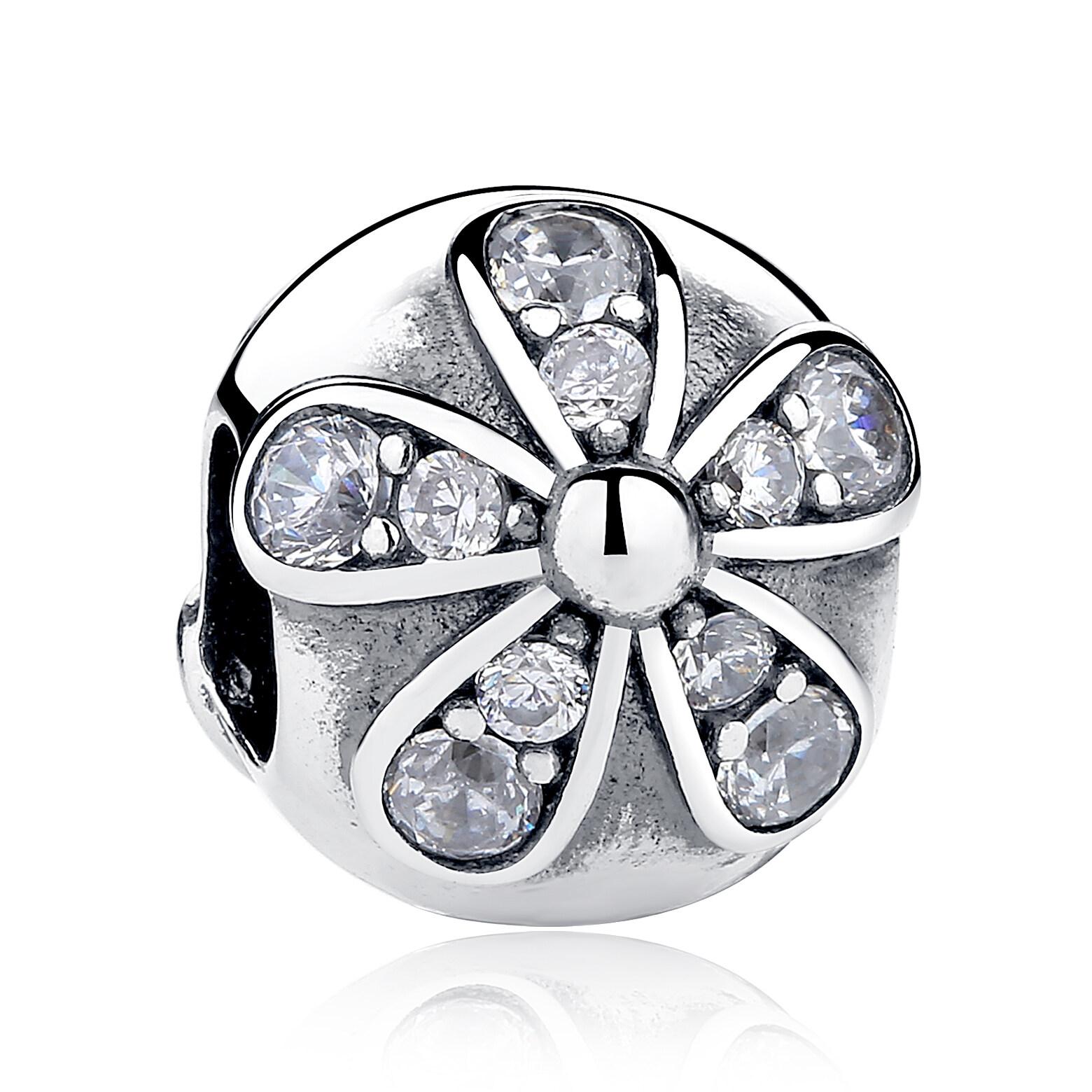 Jual 925 Sterling Silver Menyilaukan Daisy Charm Fit Gelang Kalung Sterling Silver Aksesoris Perhiasan Pas188 Bamoer Branded