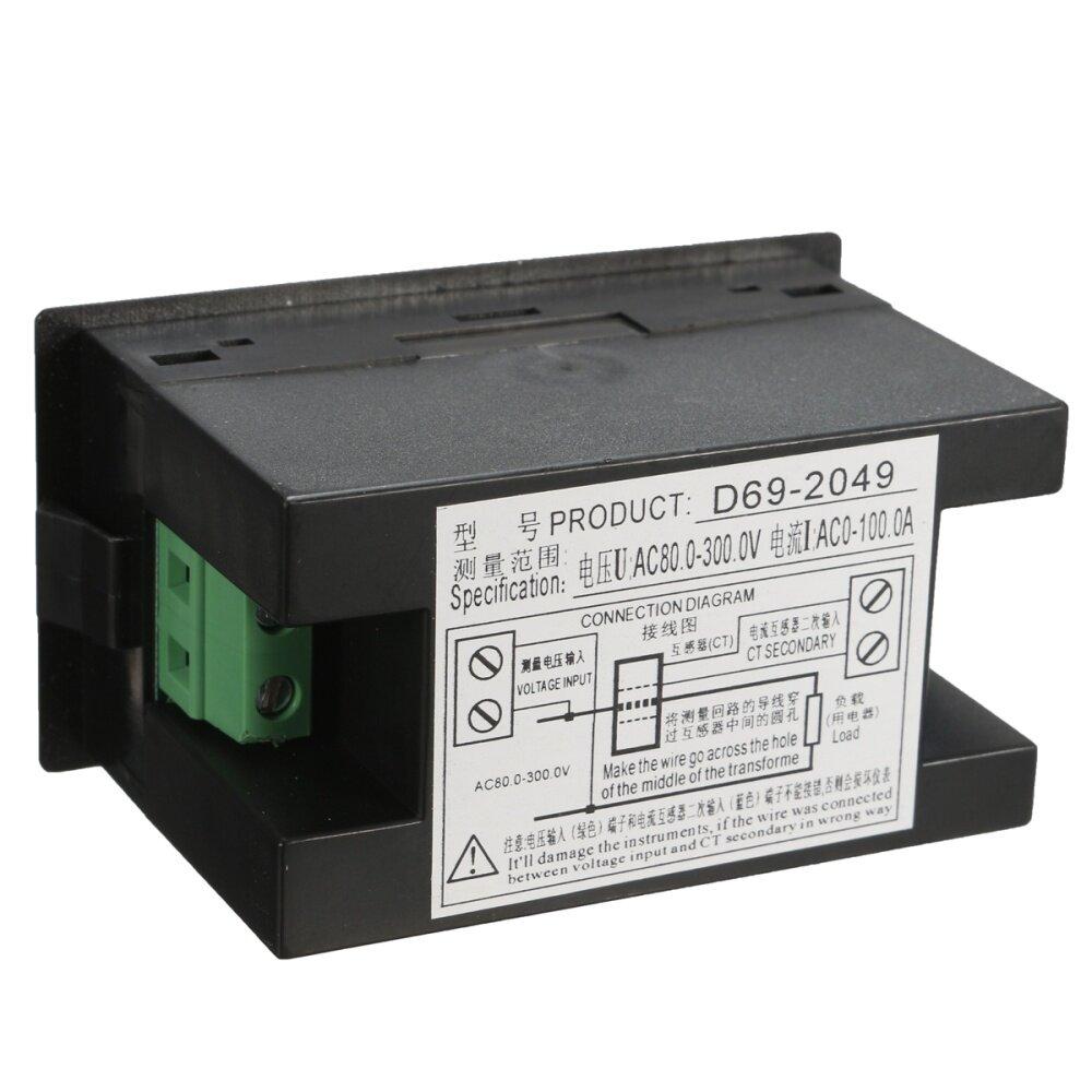 Buy Generic Digital Voltmeter Lcd Ac 80 300v 100a Test Ammeter Amp Panel Wire Diagram Image