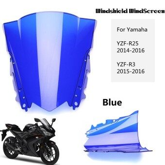 ABS Windshield WindScreen Double Bubble For Yamaha YZF R25 2014 2016 R3 2015