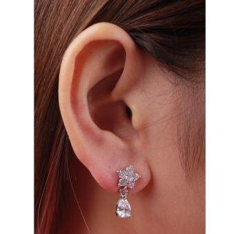 Harga AFGY FGA 211 Daily Earrings in Gold/Silver Plated with Rhinestone