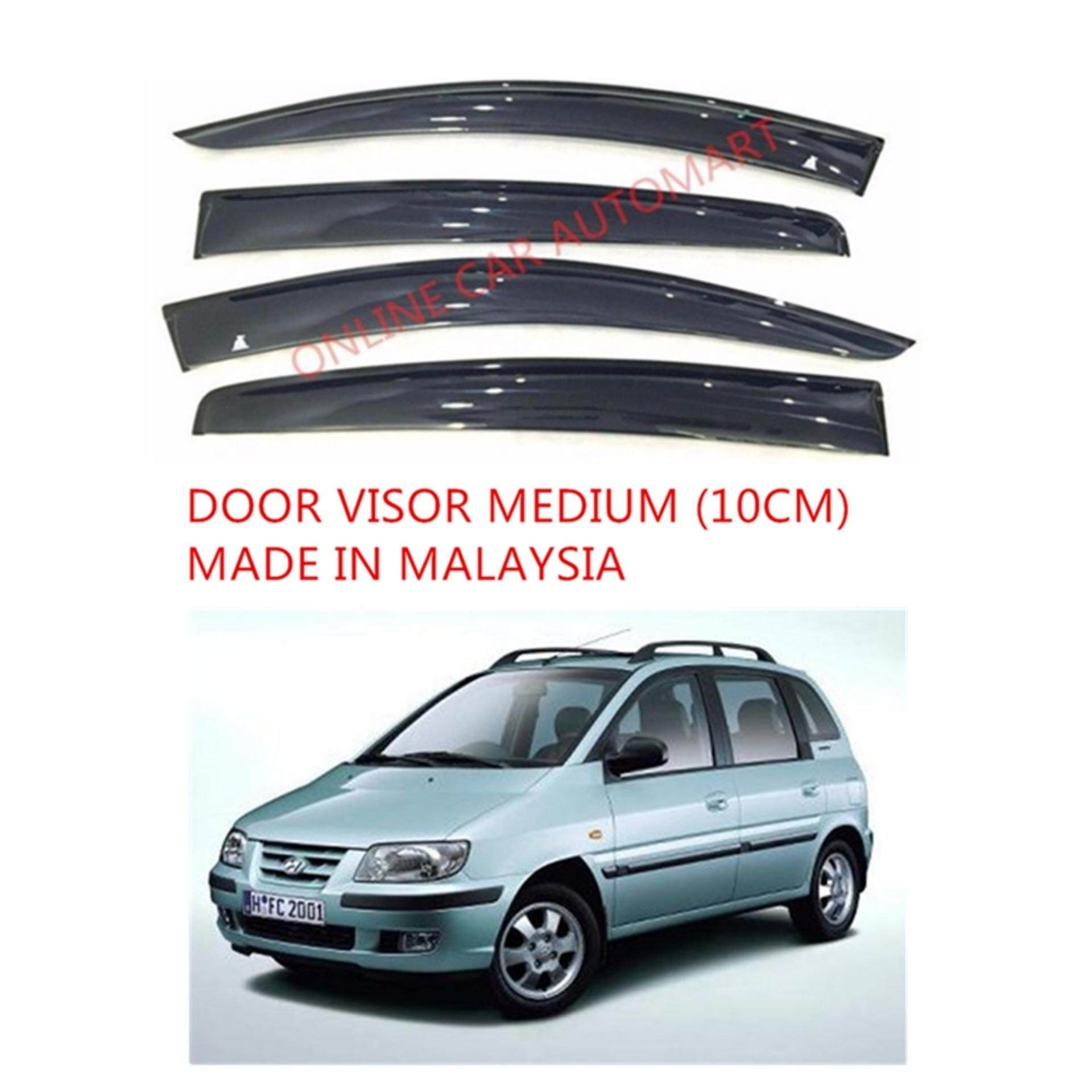 AG Car Window Door Visor Wind Deflector (Made in Malaysia) - Medium 10cm  for Hyundai Matrix