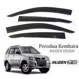 Broz Air Press Window Mugen Style Acrylic Door Visor Wind Deflector 9CM For Perodua Kembara (4PCS/SET)