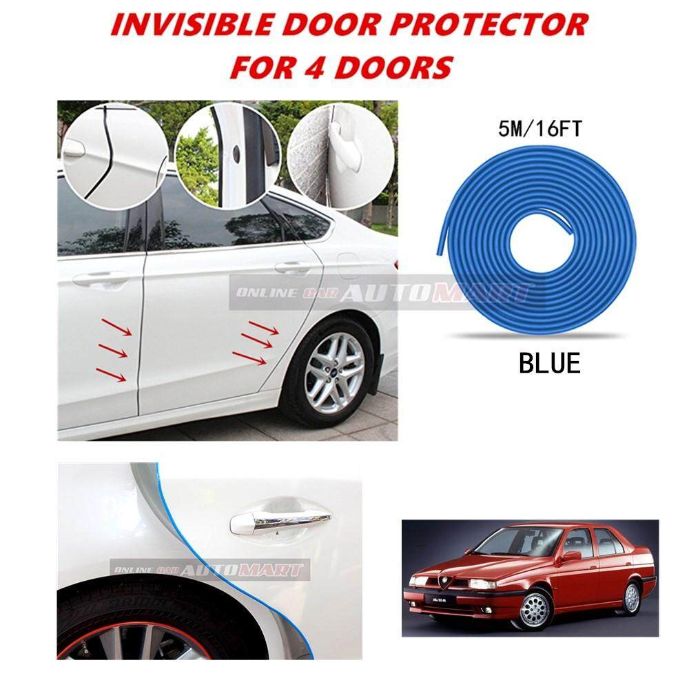 Alfa Romeo 155 - 16FT/5M (BLUE) Moulding Trim Rubber Strip Auto Door Scratch Protector Car Styling Invisible Decorative Tape (4 Doors)