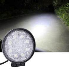Toko Allwin 24 Watt 8 Led Bulat 12 V Spot Banjir Cahaya Sinar Lampu Kerja For Offroads Karavan Perahu Hitam Lengkap
