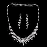 Diskon Allwin Pernikahan Pengantin Prom Perhiasan Berlian Imitasi Kristal Kalung And Anting Anting Yang Ditetapkan Branded