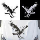 Spek Allwin Eagle Pattern Reflective Material Car Stickers Car Engine Hood Decal Emblem Black Tiongkok