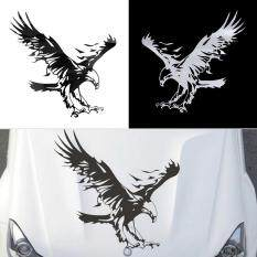 Harga Allwin Eagle Pattern Reflective Material Car Stickers Car Engine Hood Decal Emblem Black