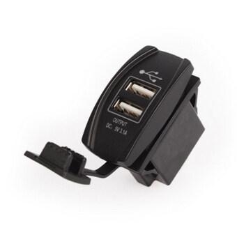 Allwin Baru LED Tahan Air 3.1 Amp untuk Review Mobil untuk Sepeda Motor Listrik Ganda USB