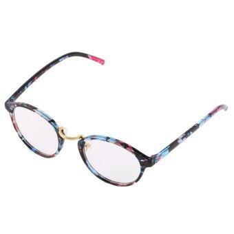 Allwin Retro Vintage Kutu Buku Bingkai Besar Fashion Round Kacamata Lensa  Bening Multicolor 626eef7845